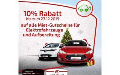 Rabatt-Aktion kurz vor Weihnachten