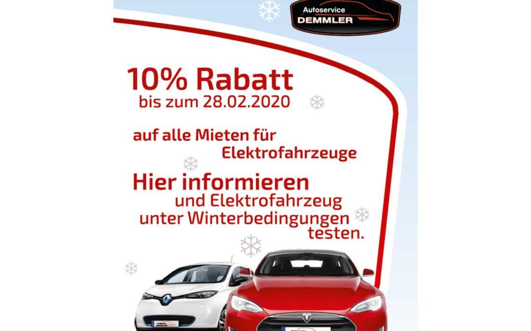 Winterrabatt auf alle Mieten für Elektrofahrzeuge