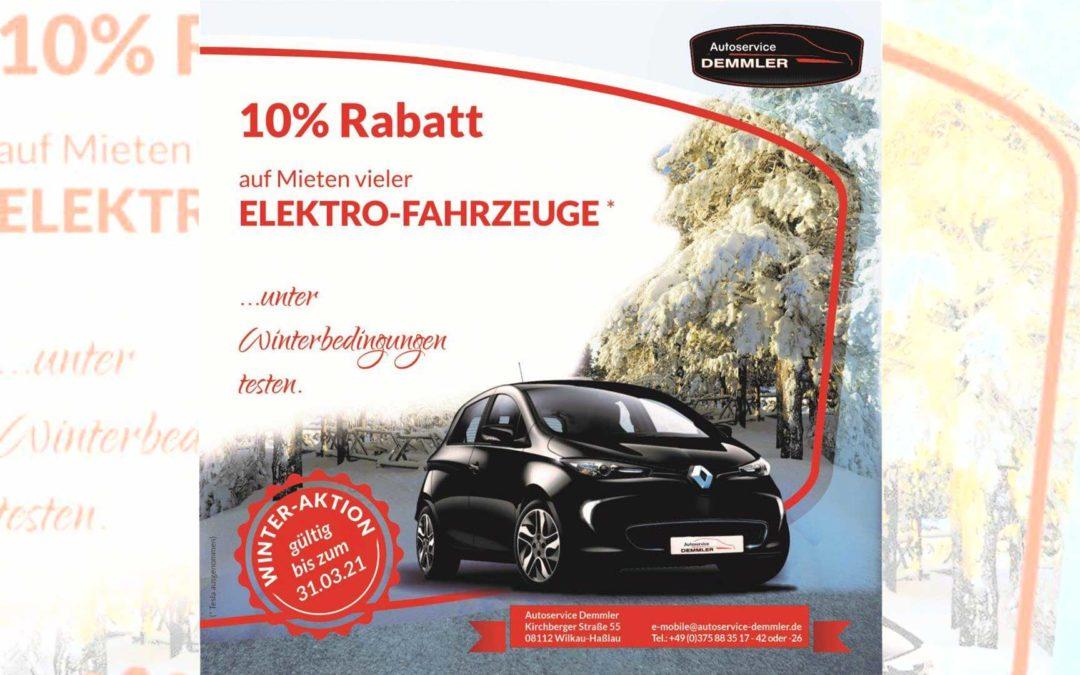 10% Winterrabatt auf Elektrofahrzeug*-Mieten